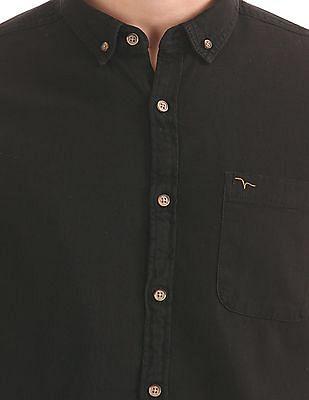Flying Machine Button Down Collar Slim Fit Shirt