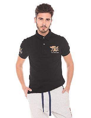 U.S. Polo Assn. Denim Co. Brand Embroidered Cotton Polo Shirt