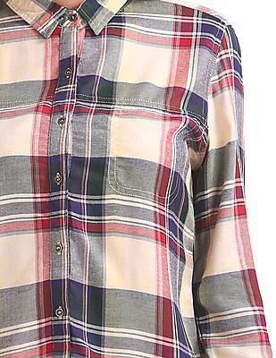 Cherokee Checked Long Sleeve Shirt