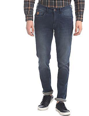 U.S. Polo Assn. Denim Co. Blue Woody Slim Straight Fit Stone Wash Jeans