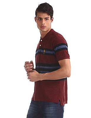 U.S. Polo Assn. Red Striped Grindle Polo Shirt