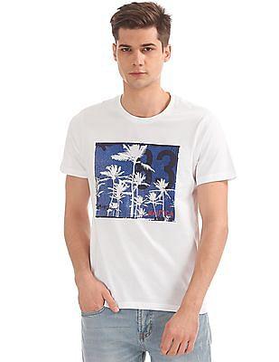 Nautica Short Sleeve Palm Trees Crew T-Shirt