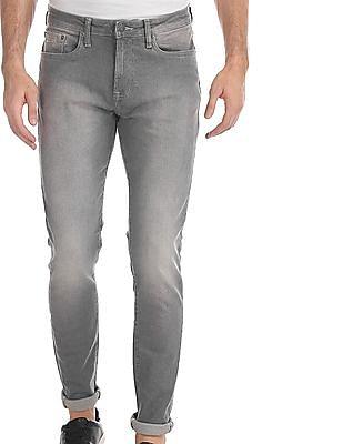 Aeropostale Grey Super Skinny Fit Stone Wash Jeans