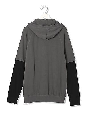 Ed Hardy Doctor Sleeve Hooded Sweatshirt