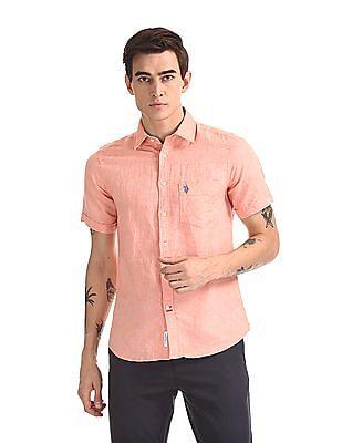 U.S. Polo Assn. Short Sleeve Tailored Regular Fit Shirt