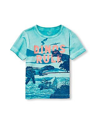 The Children's Place Toddler Boy Matchables Short Sleeve Sun Wash Graphic Tee
