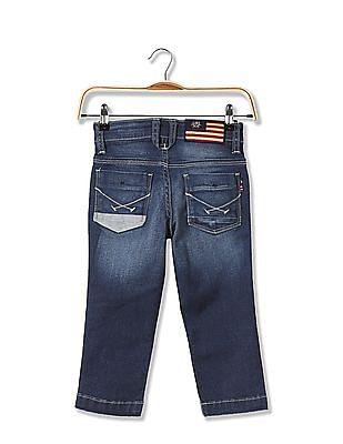 U.S. Polo Assn. Kids Boys Slim Fit Dark Wash Jeans