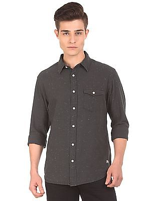 Aeropostale Speckled Regular Fit Shirt