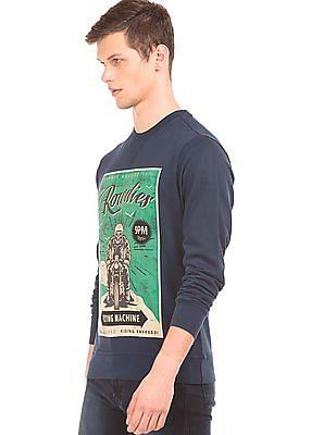 Flying Machine Graphic Print Sweatshirt