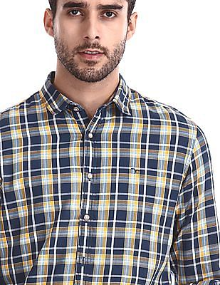 Flying Machine Long Sleeve Check Shirt