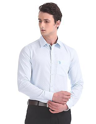 USPA Tailored Tailored Fit Long Sleeve Shirt