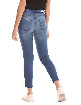 Flying Machine Women Super Skinny Distressed Jeans