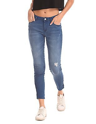 Flying Machine Women Super Skinny Distressed Jeans