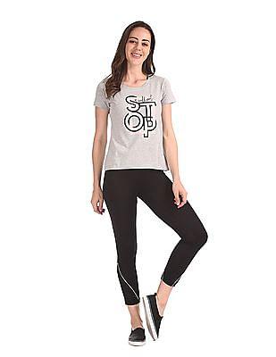 SUGR Grey Short Sleeve Graphic T-Shirt