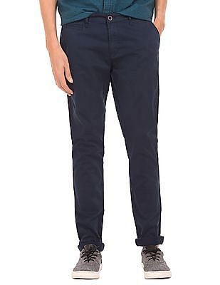 Aeropostale Solid Skinny Fit Trousers