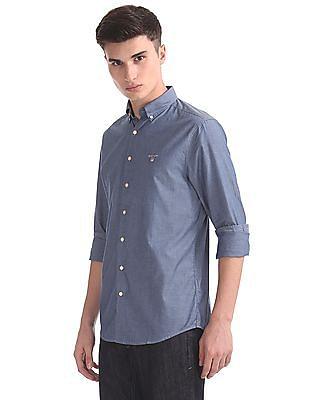 Gant Tech Prep Indigo Solid Button Down Shirt