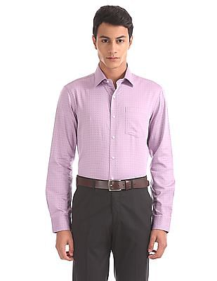 Arrow Slim Fit Two Tone Shirt