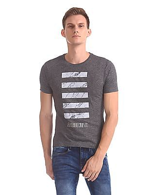 Flying Machine Regular Fit Heathered T-Shirt