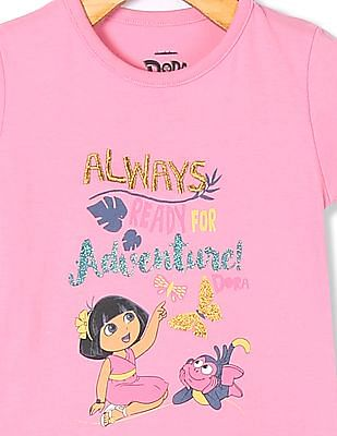 Colt Girls Short Sleeve Dora Graphic T-Shirt