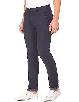Arrow Sports Slim Fit Twill Stretch Trousers