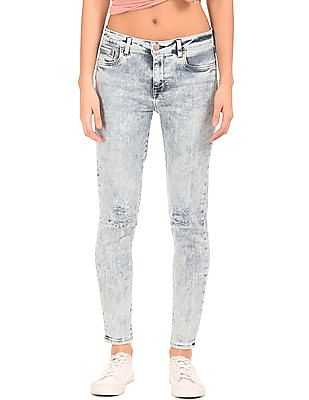 Aeropostale Acid Wash Ripped Jeans