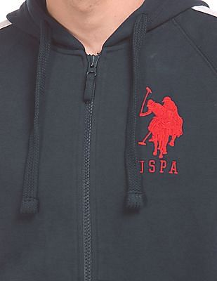 U.S. Polo Assn. Colour Block Hooded Sweatshirt