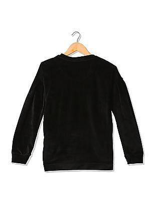 U.S. Polo Assn. Kids Girls Flippy Sequin Velveteen Sweatshirt