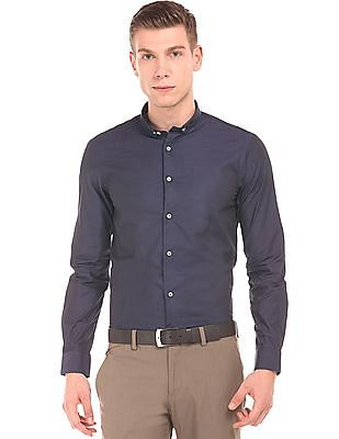 Arrow Newyork Solid French Placket Shirt