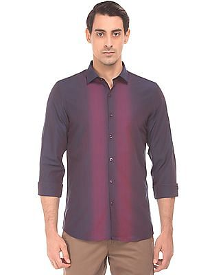 Excalibur Gradient Striped Slim Fit Shirt