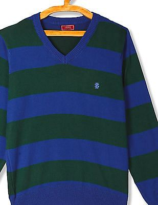 Izod Striped V-Neck Sweater