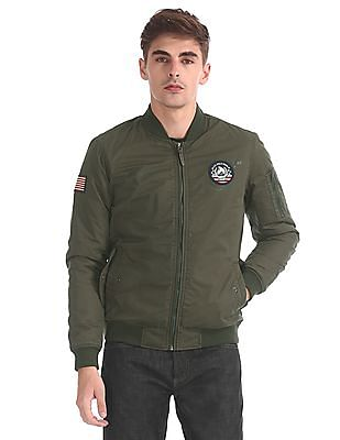 U.S. Polo Assn. Denim Co. Stand Collar Bomber Jacket
