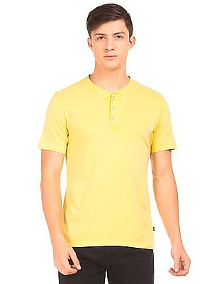 Nautica Solid Slim Fit Henley T-Shirt