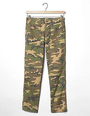 GAP Camo Slim Fit Utility Pants