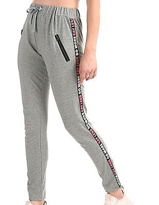 SUGR Grey Heathered Active Track Pants