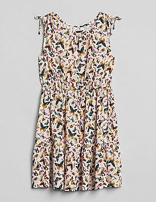 GAP Girls Butterfly Shirred-Sleeve Dress