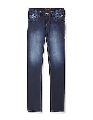 Flying Machine Michael Slim Tapered Mid Rise Jeans