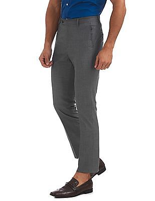 Arrow Newyork Tapered Fit Printed Trousers