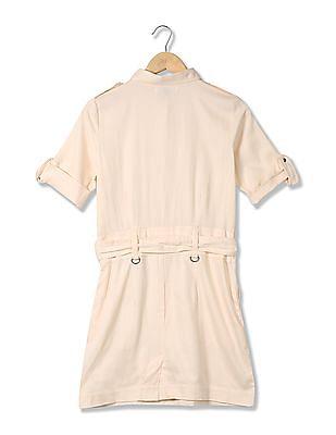 U.S. Polo Assn. Women Regular Fit Belted Shirt Dress