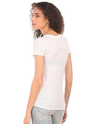 Aeropostale Appliqued Front Slub T-Shirt