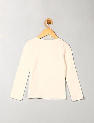 GAP Girls White Flippy Sequin Long Sleeve Tee