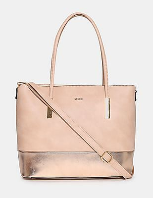 Stride Metallic Panel Tote Bag