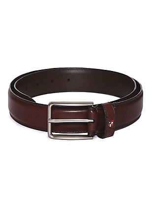 U.S. Polo Assn. Metallic Buckle Leather Belt