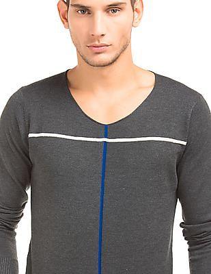Flying Machine Regular Fit U-Neck Sweater
