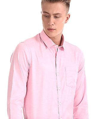 Excalibur Long Sleeve Patterned Shirt - Pack Of 2