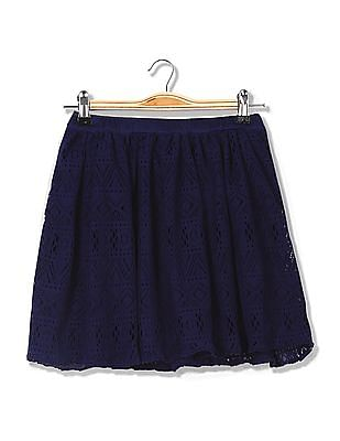 Cherokee Girls Lace Flared Skirt