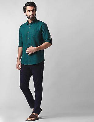 True Blue Slim fit Solid Shirt