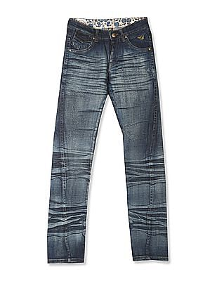 Flying Machine Women Blue Whiskered Bootcut Jeans