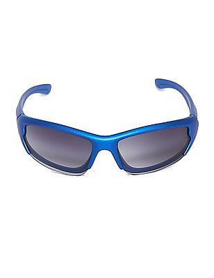 The Children's Place Blue Boys Wrap Around Gradient Sunglasses