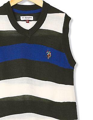 U.S. Polo Assn. Kids Striped Sleeveless Sweater
