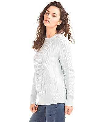 GAP Wavy Cable Knit Sweater
